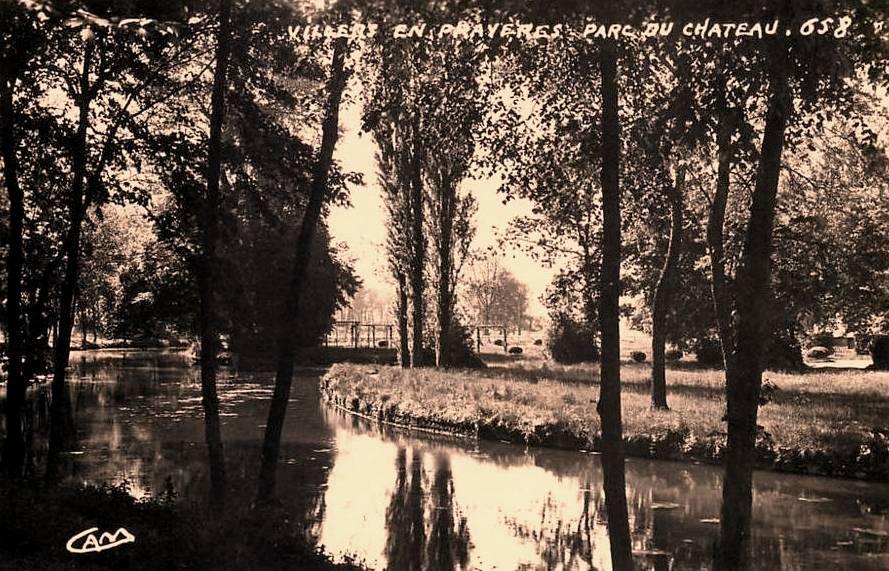 Villers-en-Prayères (Aisne) CPA le parc du château
