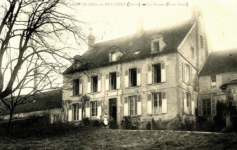 Villers-en-Prayères (Aisne) CPA la ferme