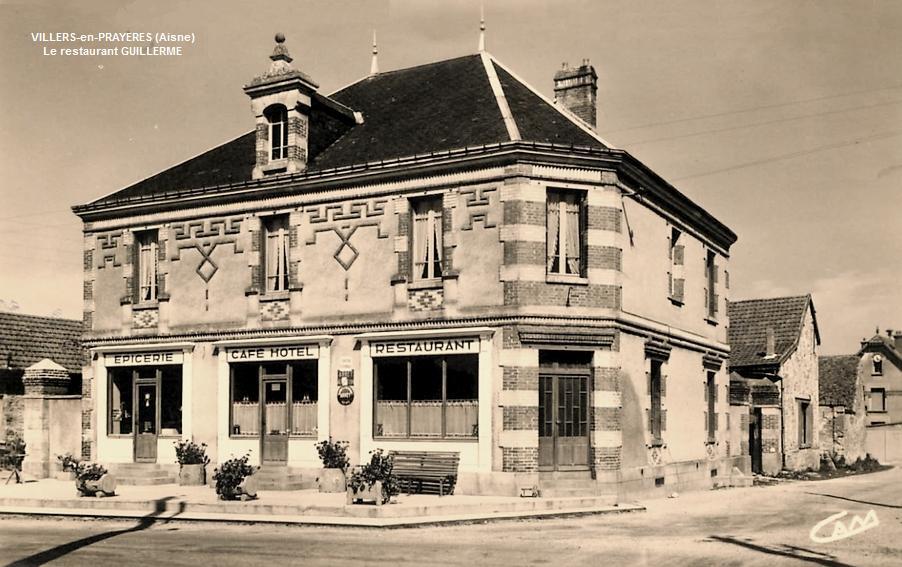 Villers-en-Prayères (Aisne) CPA le restaurant Guillerme