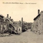 Villers-en-Prayères (Aisne) CPA la rue de Longueval