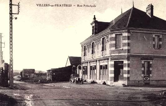 Villers-en-Prayères (Aisne) CPA la rue principale