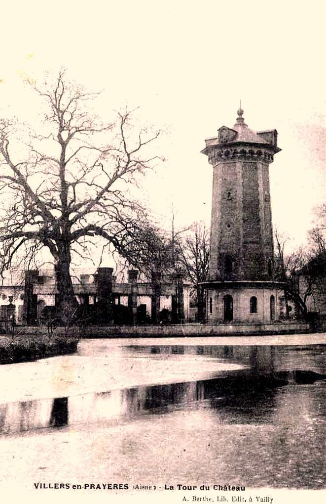 Villers-en-Prayères (Aisne) CPA la tour du château
