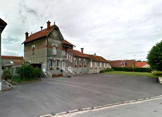 Villers-en-Prayères (Aisne) la mairie-école
