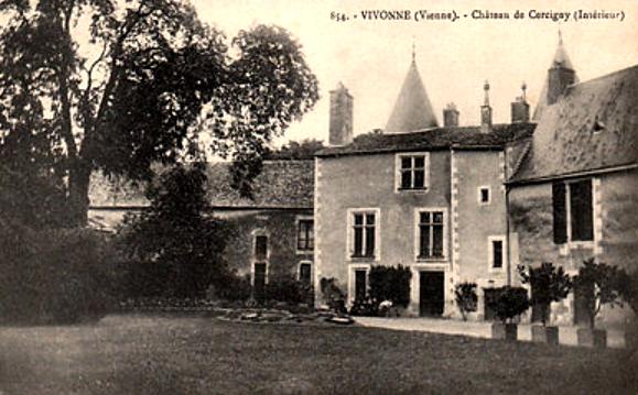 Le château de Cercigny à Vivonne (Vienne) où serait né Camille de Cercy-la-Tour