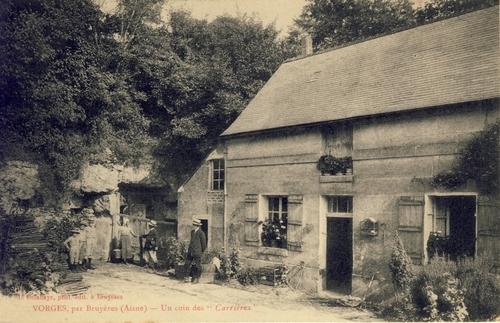 Vorges (Aisne) CPA Un coin des Carrières