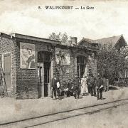 Walincourt selvigny 59 la gare cpa