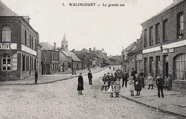 Walincourt selvigny 59 walincourt la grande rue cpa