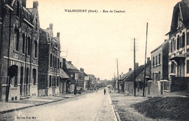 Walincourt selvigny 59 walincourt la rue de cambrai cpa