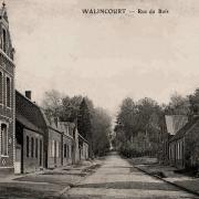 Walincourt selvigny 59 walincourt la rue du bois cpa