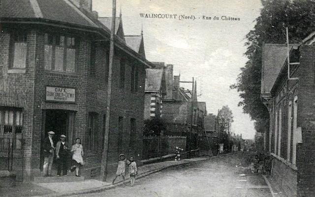Walincourt selvigny 59 walincourt la rue du chateau cpa