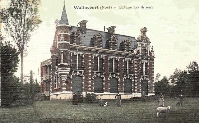 Walincourt selvigny 59 walincourt le chateau des briseux cpa