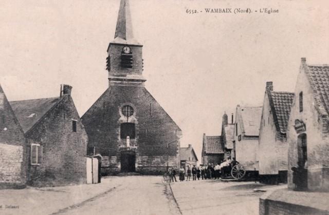 Wambaix 59 l eglise saint amand cpa