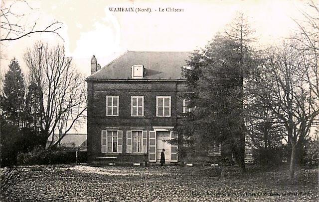 Wambaix 59 le chateau cpa