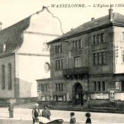 Wasselonne 67 l hotel de ville et l eglise cpa