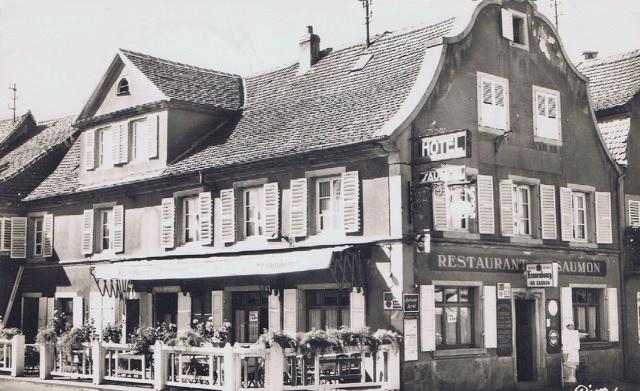 Wasselonne 67 l hotel restaurant du saumon cpa