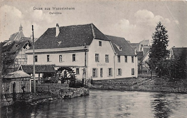 Wasselonne 67 le moulin a eau cpa