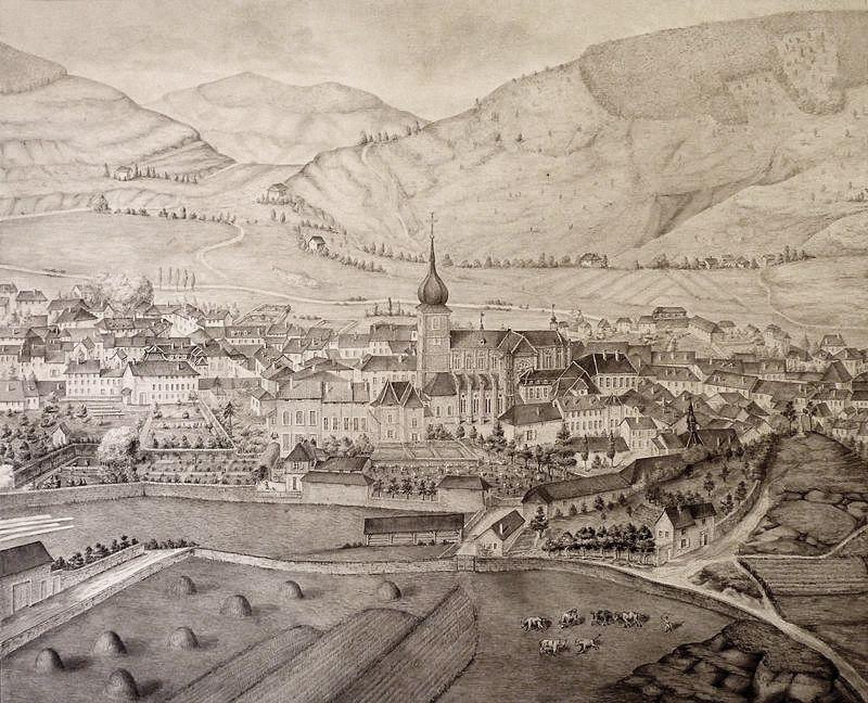 1 remiremont 88 gravure de 1826
