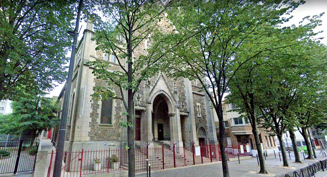 15 paris 75 13eme l eglise saint hyppolite et le dispensaire