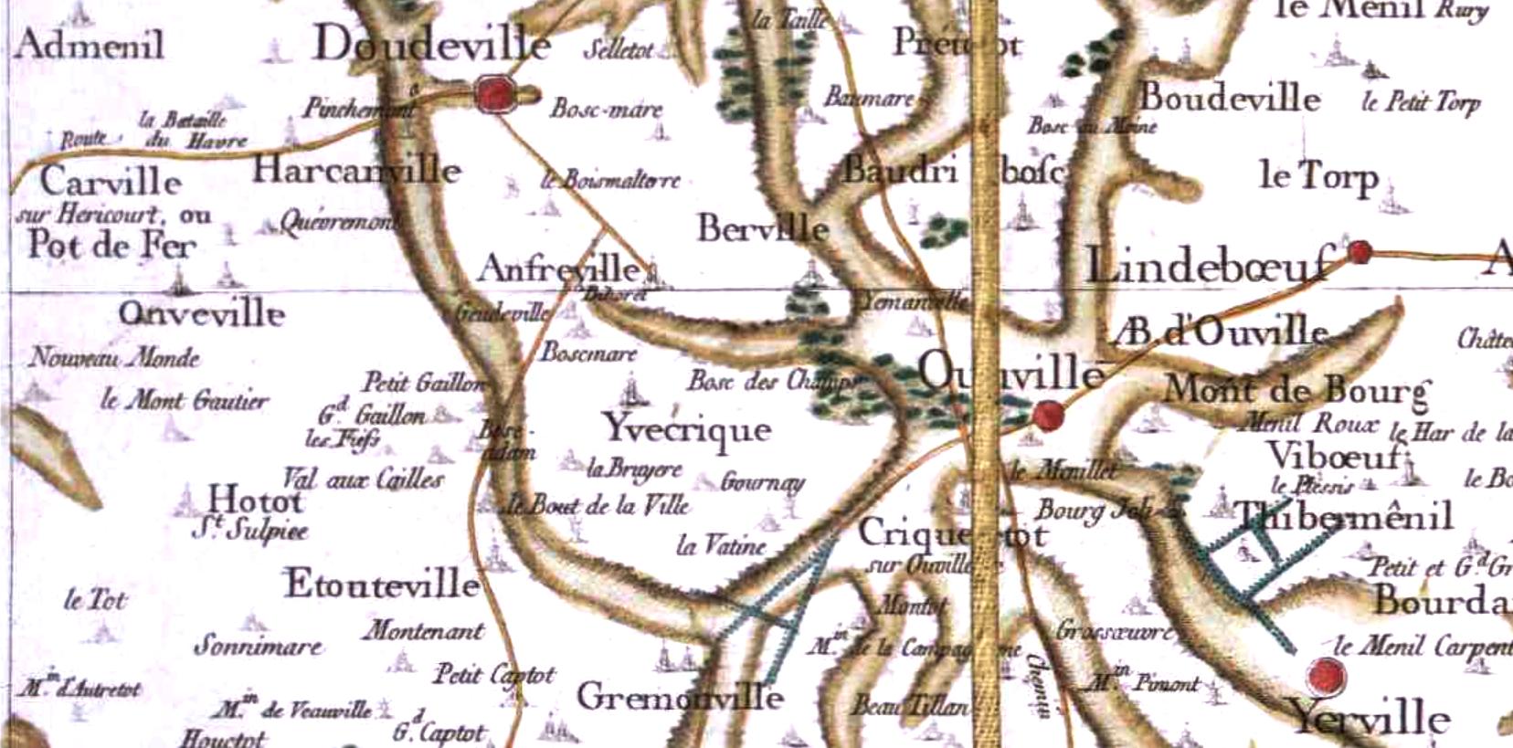 Anveville seine maritime cassini