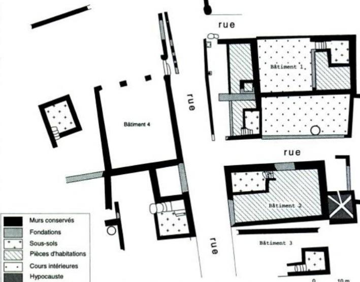 Baalon 55 plan des fouilles de 1985
