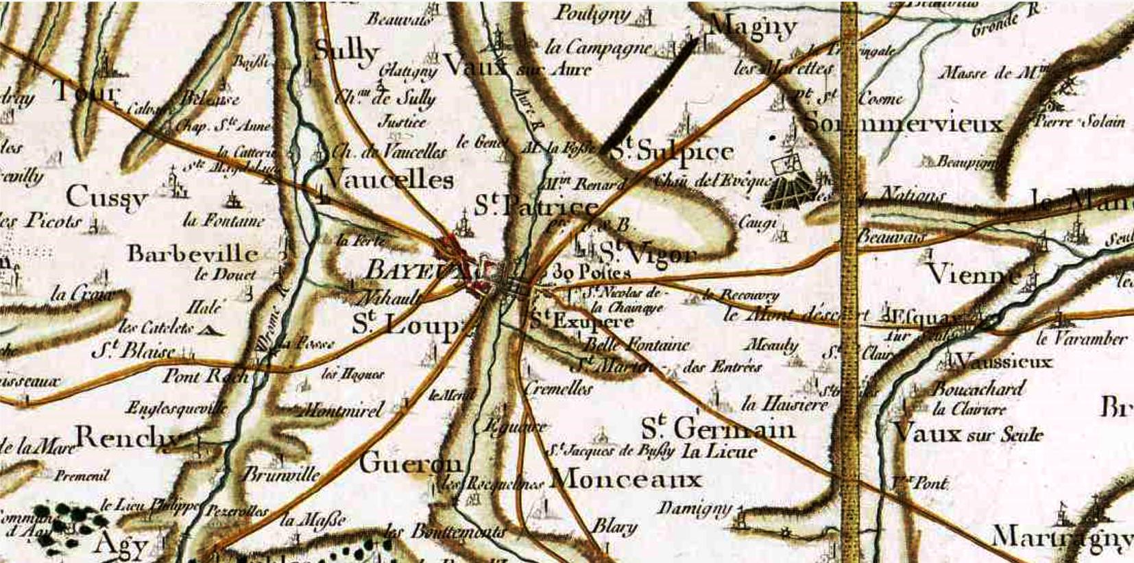 Bayeux calvados cassini