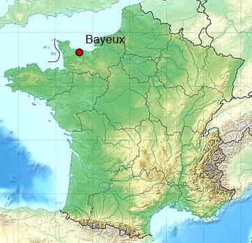 Bayeux calvados geo