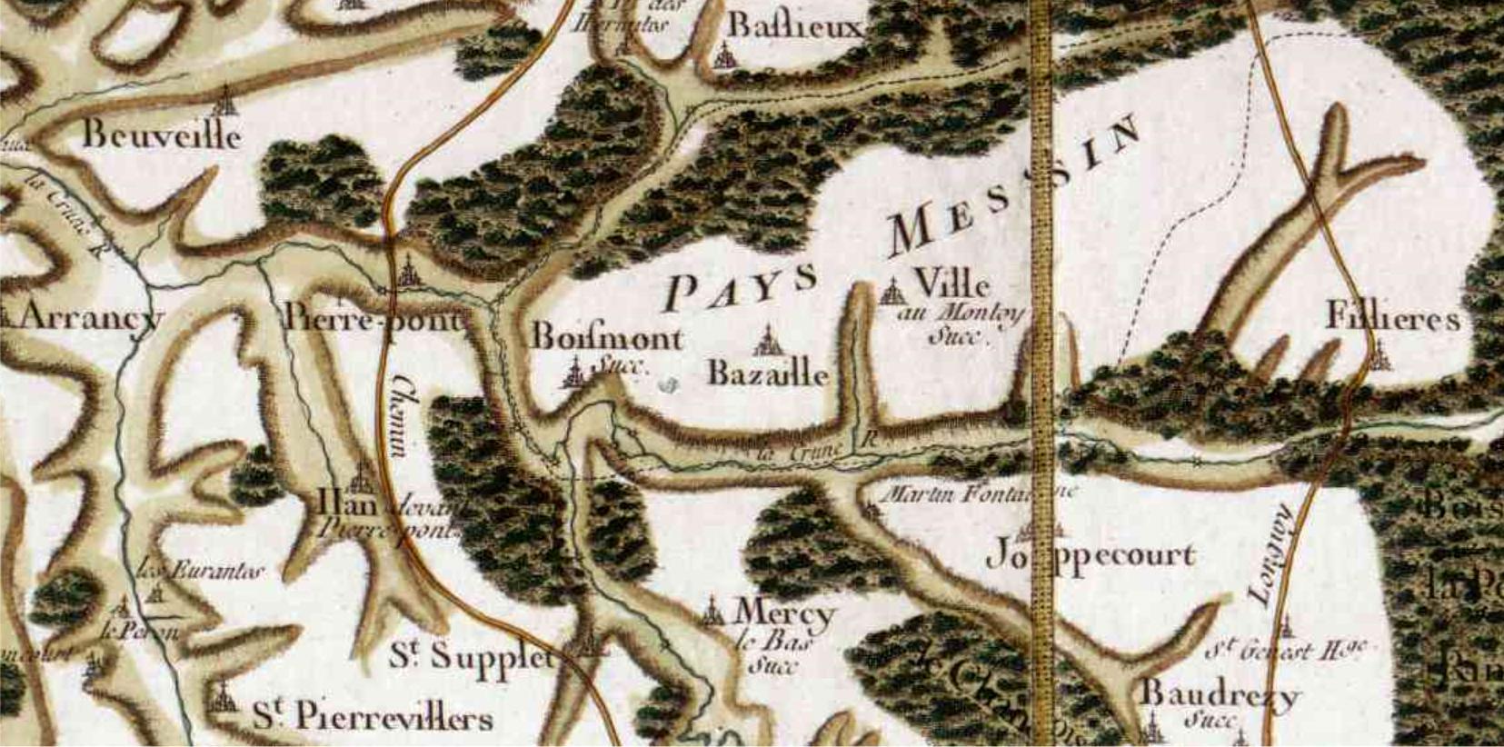 Bazailles 54 cassini