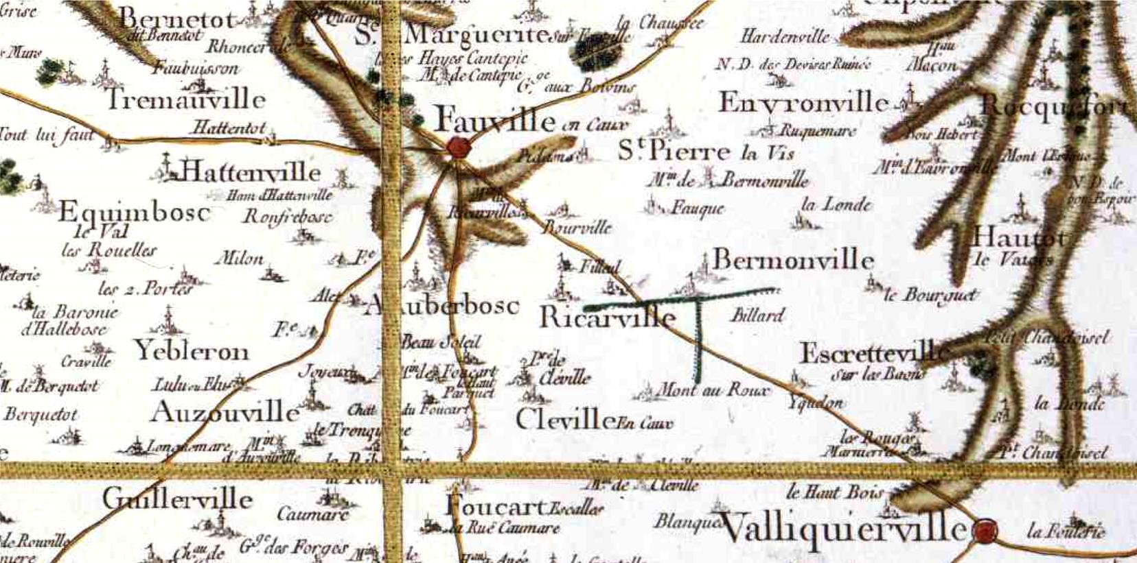 Bermonville seine maritime cassini