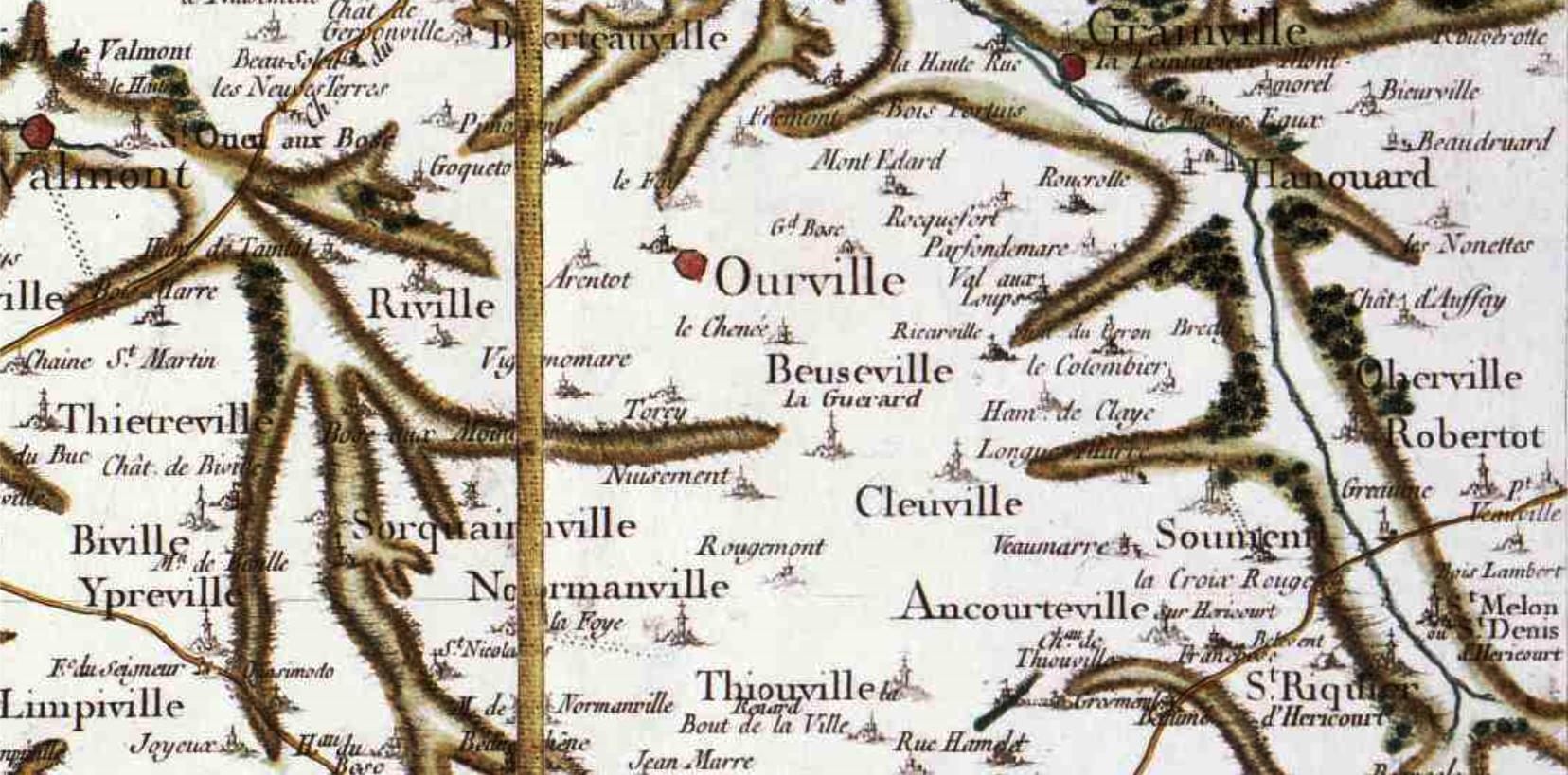 Beuzeville la guerard seine maritime cassini