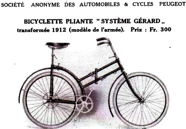 Bicyclette systeme gerard