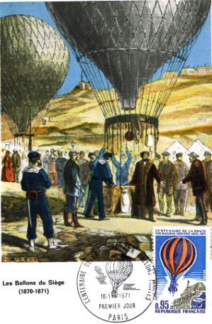 Carnieres 59 un ballon monte de 1870