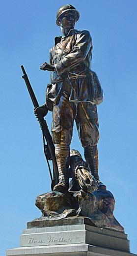 Cernay en dormois 51 soldat du monument aux morts