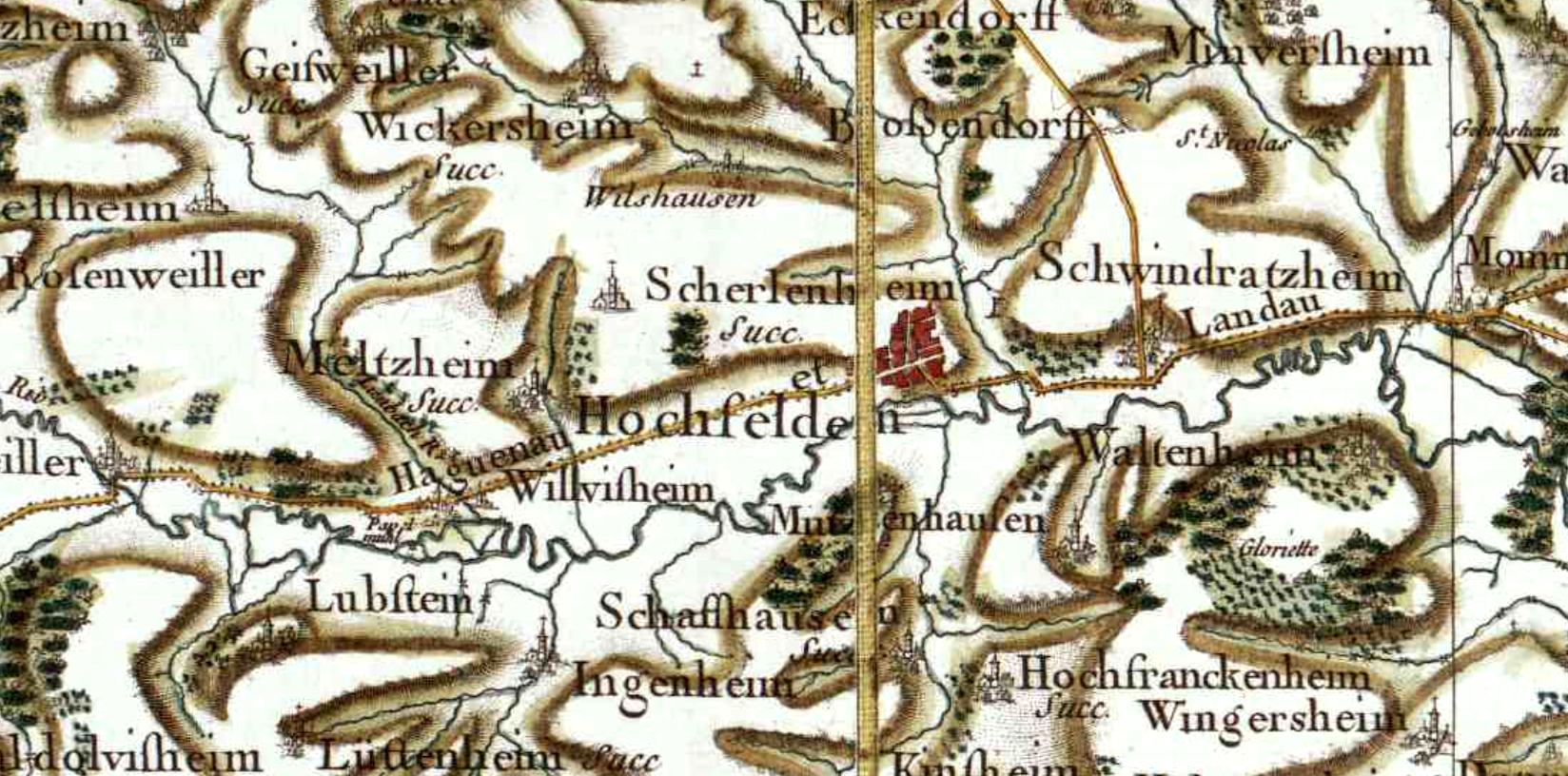 Hochfelden 67 cassini