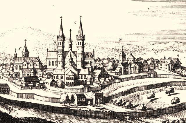 L abbaye de fulda gravure 1655