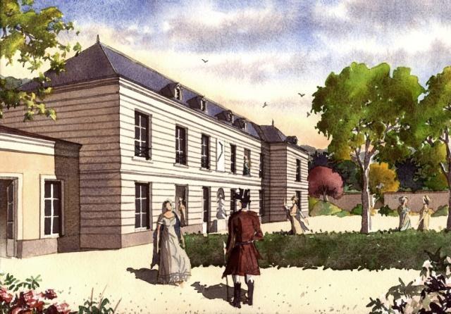 La garenne colombes 92 le chateau de la garenne gravure vers 1810