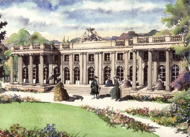 La garenne colombes 92 le chateau des tournelles gravure