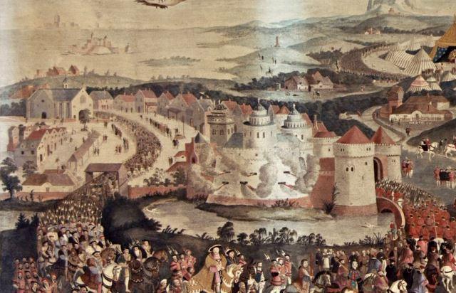 Le camp du drap d or gravure