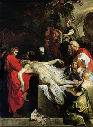 Mise au tombeau de rubens