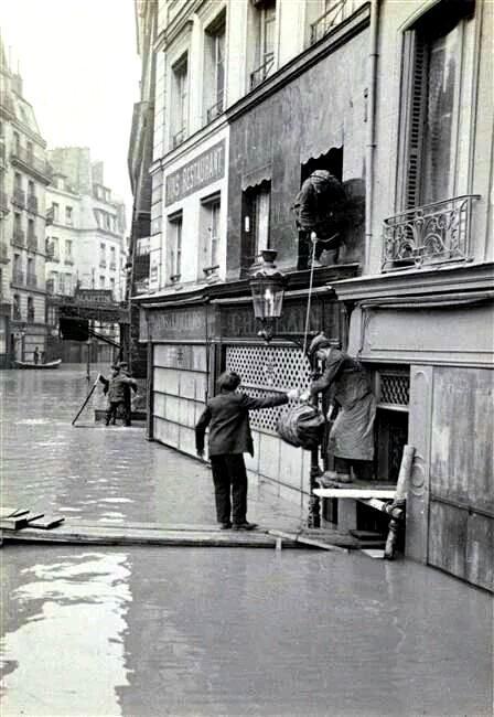 Paris 75 crue de la seine 1910 cpa