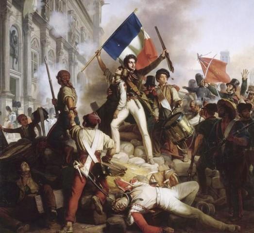 Paris 75 l hotel de ville combats de 1830 gravure