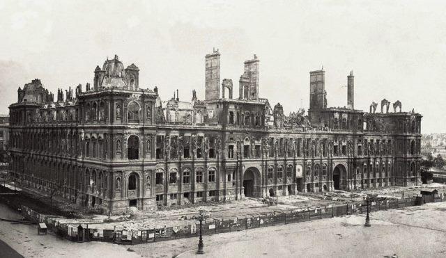 Paris 75 l hotel de ville l incendie de 1870 cpa