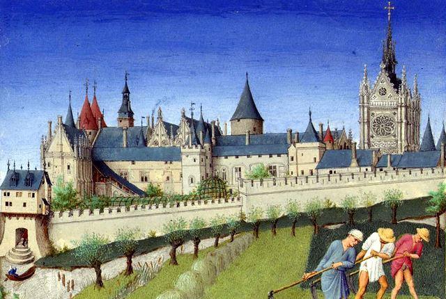 Paris 75 le palais de la cite dans les tres riches heures du duc de berry gravure