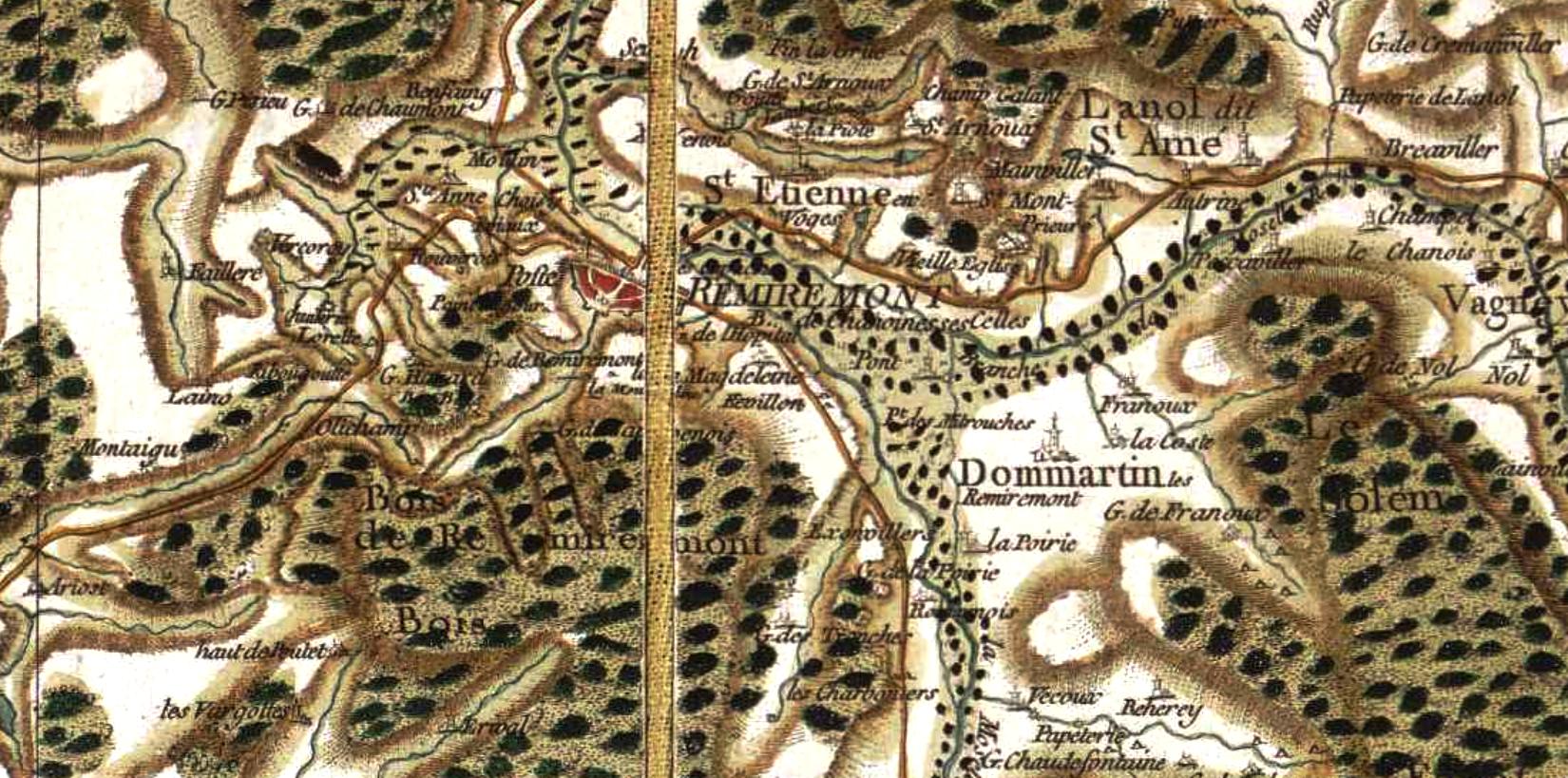 Remiremont 88 cassini