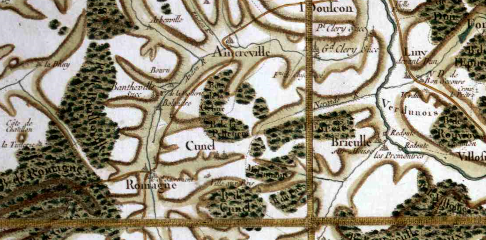 Romagne sous montfaucon 55 cassini