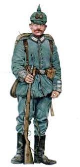 Soldat allemand en 1914