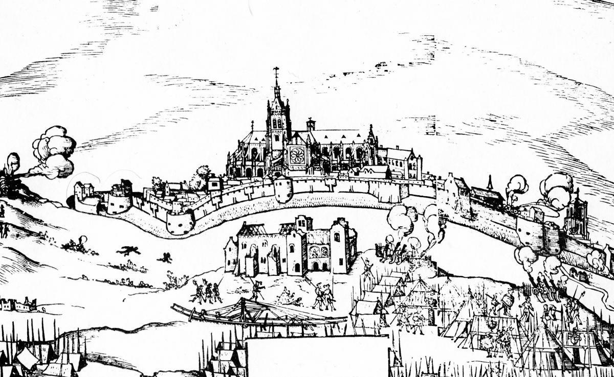 Therouanne pas de calais la ville ancienne gravure