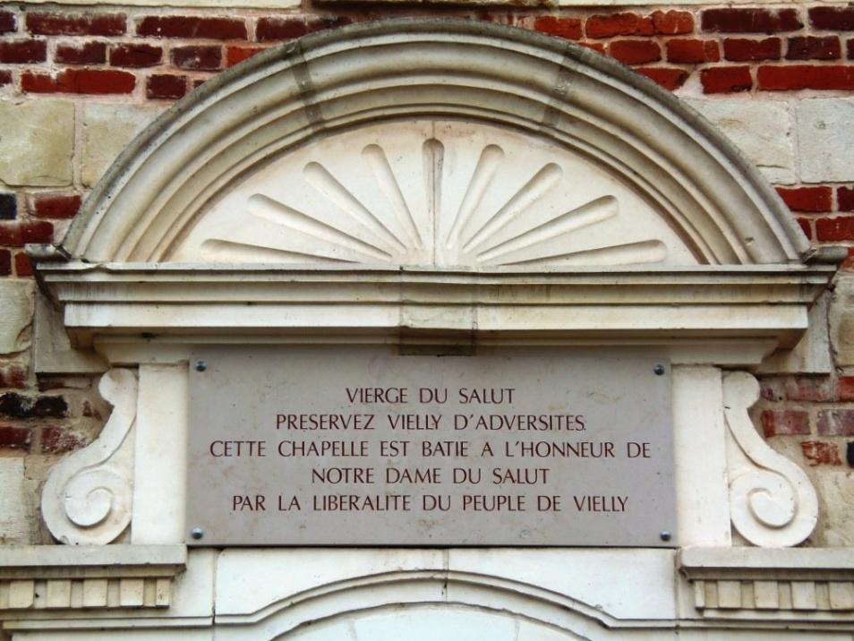 Viesly 59 la chapelle sainte anne plaque